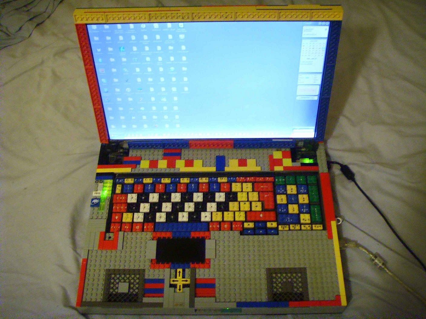 Lego cased Laptop → Iri Tablet Computer with Keyboard Dock Prototype